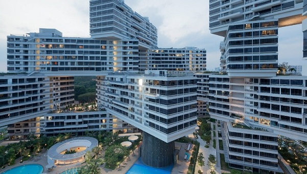 Tổ hợp nhà ở Interlace, Singapore, được nhận giải thưởng tại Liên hoan Kiến trúc thế giới 2015.